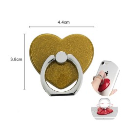 360° Rotatable Ring Holder Rengaspidike Universal Heart Gold