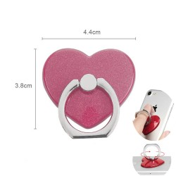 360° Rotatable Ring Holder Rengaspidike Universal Heart Pink