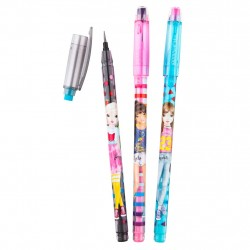 TOPModel Pushpencil With Eraser 3pcs