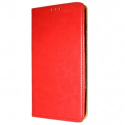 Genuine Leather Book Slim Huawei Y6 (2018) Cover Wallet Case Red