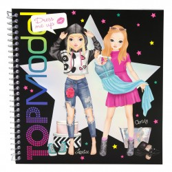 Top Model Dress Up Sticker book Louise & Christy