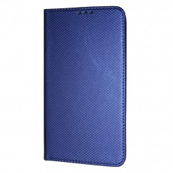 Texture Book Slim iPhone XR Cover Wallet Case Blue