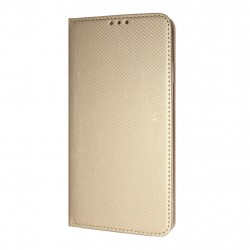 Texture Book Slim iPhone XR Cover Wallet Case Gold