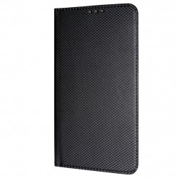 Texture Book Slim iPhone XR Cover Wallet Case Black
