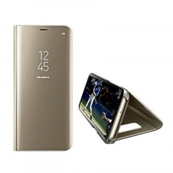 Samsung Galaxy A8 2018 Flip Fodral Smart View Genomskinligt Guld Gold Colorfone 249,00 kr product_reduction_percent