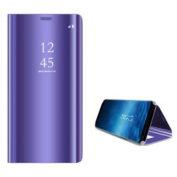 Smart View Flip Case Samsung Galaxy Note 9 Cover Semitransparent Purple