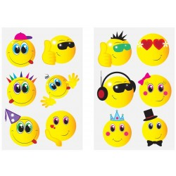 24pcs Smiley Funny Face Emoticons Temporary Tattoos Party Bag Filler