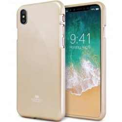 GOOSPERY Pearl Jelly Case iPhone Xs MAX Soft TPU Cover Gold Suojakuori