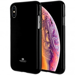 GOOSPERY Pearl Jelly Case iPhone Xs MAX Soft TPU Cover Black Suojakuori