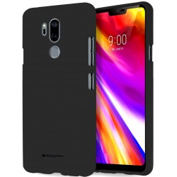 GOOSPERY Pearl Jelly Case LG G7 ThinQ Soft TPU Cover Black Suojakuori