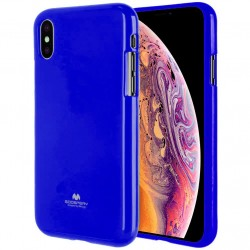 GOOSPERY Pearl Jelly Case iPhone Xs MAX Soft TPU Cover Navy Blue Suojakuori