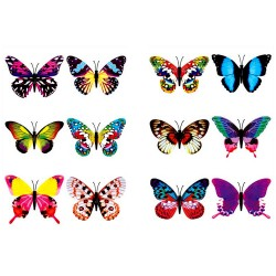24pcs Butterfly Temporary Tattoos Party Bag Filler