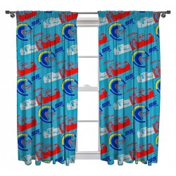 Disney Cars Lightning McQueen Ready Made Curtains 168cm x 183cm