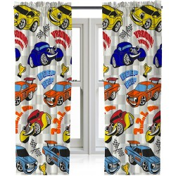 Cars Kids Ready Made Curtains 168cm x 183cm