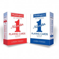 Waddingtons Number 1 Quality Playing Cards 2-Pack Red/Blue