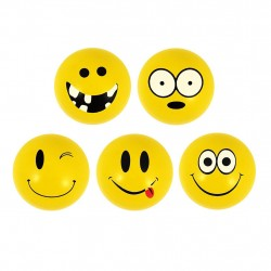 6-Pack Emoticons Smiley 35mm Super Bouncers Balls Assorted