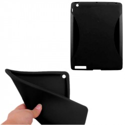 iPad 2/3/4 Soft TPU Case Slim Cover Piano-Black
