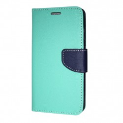 Samsung Galaxy A8+ 2018 Cover Fancy Wallet Case Mint-Navy