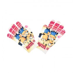 Minions Gloves Children Mittens One Size Pink