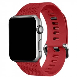 Apple Watch 38mm Silicone Strap Band Red