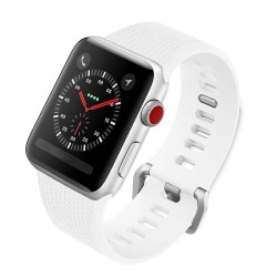 Apple Watch 42mm Silicone Strap Band White
