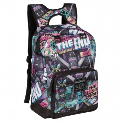 Minecraft Tales From the End Backpack School Bag Reppu Laukku 44cm
