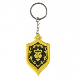 World of Warcraft Alliance Pride Keychain Yellow Keychain