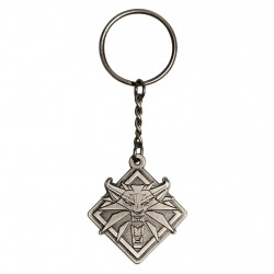 The Witcher 3 Medallion Keychain Silver