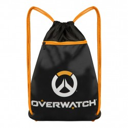 Overwatch Cinch Bag Sack 45x35cm Black