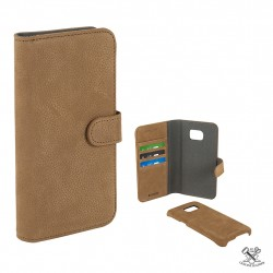 Champion Wallet Leather Case Galaxy S7Edge Coffe Brown