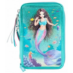 TOPModel 44-pieces Penaaleita Triple School Set Pencil Case Fantasy Mermaid