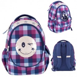TOPModel Sequins Smiley Backpack School Bag 43cm