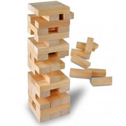 Wooden Tumbling Block Stacking Tower 45pcs