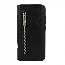 2in1 Wallet Business Zip Samsung Galaxy J4 PLUS Nahkakotelo Lompakkokotelo BLACK
