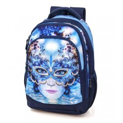 Delbag Mask Backpack School Bag Reppu Laukku 44x32x16cm