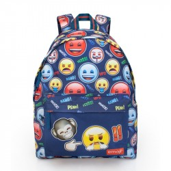 Emoji Angry Backpack School Bag 43x33x13cm