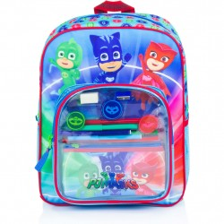 3in1 PJ Masks Backpack School Bag Pencil Case And Accessories