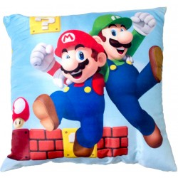 Super Mario Gang Pillow Double Sided Motif Cushion