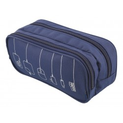 STREETZ Accessory Bag 2 Compartments 4 Pockets Polyester BLUE
