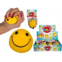 Squeeze And Stretchable Anti Stress Smiley Ball