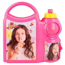 Disney Soy Luna YES! 2in1 Lunch Box And Bottle With Handle Pink