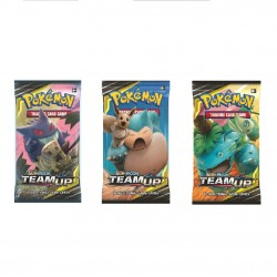 Pokemon - Sun & Moon 9 Team Up Booster Pack Card Game 3-Pack