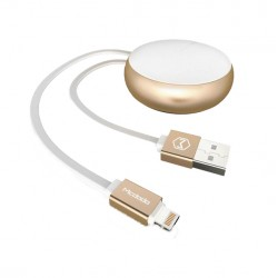 Mcdodo Circle Winding Lightning Kabel 90cm Guld/Vit iPhone iPad Mcdodo Circle Lightning Cable CA Mcdodo 199,00 kr product_red...