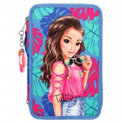 TOPModel 44-pieces Penaaleita Triple School Pencil Case Talita Blue