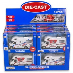 Holiday Camper Car Vehicle Die-Cast 13cm Pullback Assorted