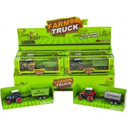 Die-Cast Tractor With Trailer Die-Cast 17cm Pullback Assorted