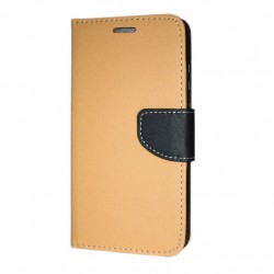 Huawei Y6 2018 Cover Fancy Wallet Case Gold