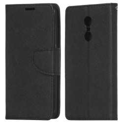 Xiaomi Redmi Note 4/4X Cover Fancy Wallet Case + Wrist Strap Black