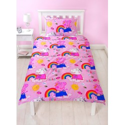 Peppa Pig Hooray Bed linen Duvet Cover 135x200+48x74cm