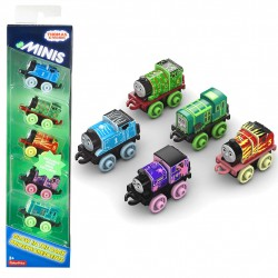 Thomas & Friends Minis Glow In The Dark Collectible Toy Train 5-Pack